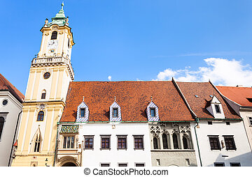Old Town Hall from Main Square in Bratislava