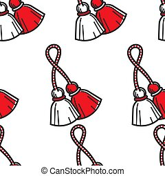 Travel to Bulgaria Bulgarian symbol red and white tassels...