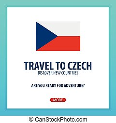 Travel to Czech. Discover and explore new countries. Adventure trip.