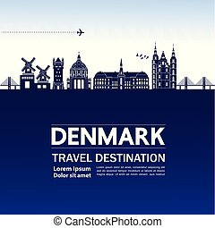 Travel to Denmark vector illustration