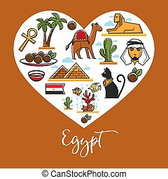 Travel to Egypt symbols architecture and landmarks