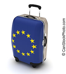 Travel to Europe (isolated with clipping path)