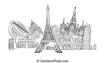 Travel to Europe Landmarks
