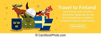 Travel to finland banner horizontal concept