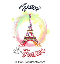 Travel to France Vector Concept