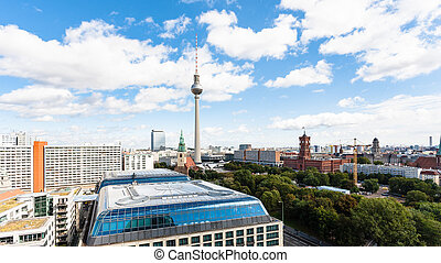 panoramic view of Berlin city with TV tower - travel to...