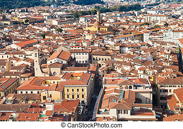 above view of living quarters in Florence city
