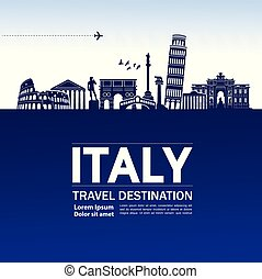 Travel to Italy vector