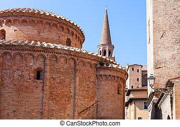 Rotonda di san lorenzo and bell tower of Basilica - travel...