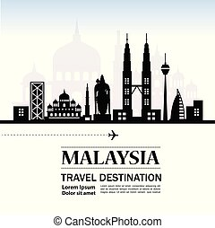 Travel to Malaysia vector