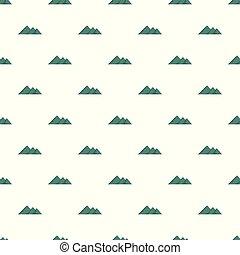 Travel to mountain pattern seamless