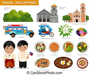 Travel to Philippines. Filipinos in national dress.