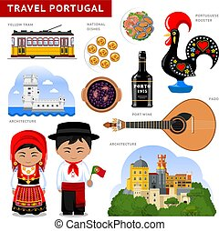 Travel to Portugal. Portugueses in national dress.