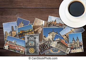 Travel to Prague concept