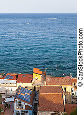 above view of residential houses in Giardini Naxos - travel...