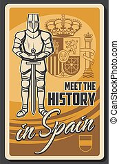 Travel to Spain, vector knight armor and weapon