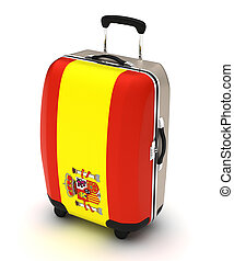 Travel to Spanish (isolated with clipping path)