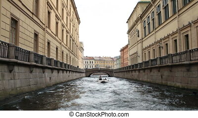 Travel to St. Petersburg canals and embankments view of from...
