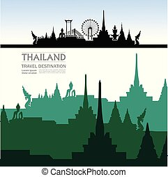 Travel to Thailand vector
