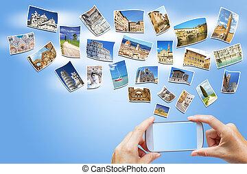 Travel to Tuscany concept (Italy)