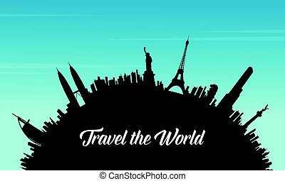 Travel to world and sky background