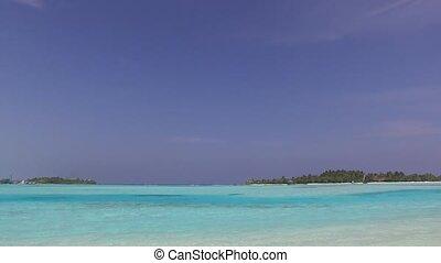 blue sea lagoon on maldives beach - travel, tourism,...