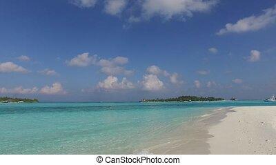 sea shore of maldives beach - travel, tourism, vacation and...