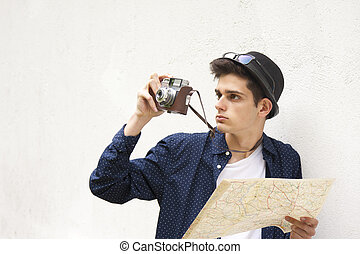 travel tourist with camera