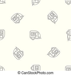 Travel trailer pattern seamless vector
