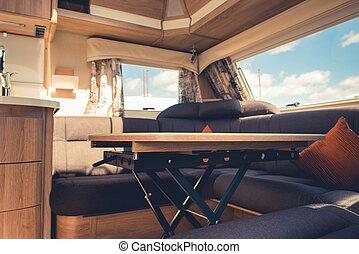 Travel Trailer RV Dining Area