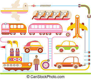Travel & Transport - vector illustration