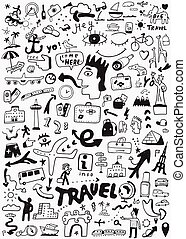 travel transportation doodle