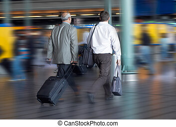 travel - Travel concept, photo taken at airport (blurry!!)