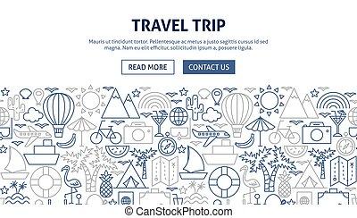 Travel Trip Banner Design