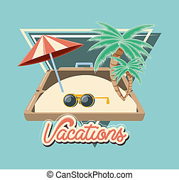 travel vacation beach umbrella