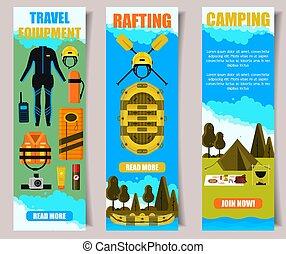 Travel vector banner web template set