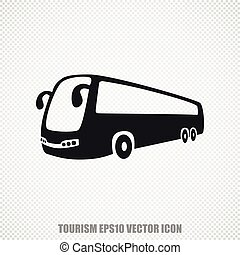 Travel vector Bus icon. Modern flat design.