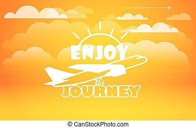 Travel vector illustration. Enjoy journey concept