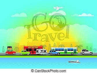 Travel vector illustration. Go travel