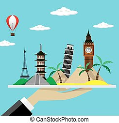 Travel  vector illustration. Modern flat design.