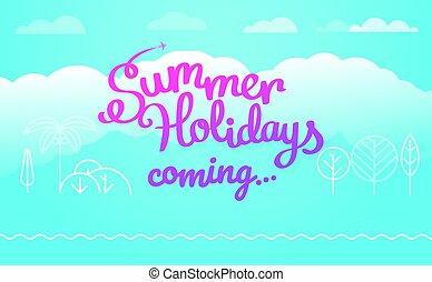 Travel vector illustration. Summer holidays coming