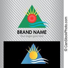 Travel vector logo design template