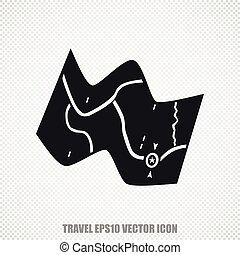 Travel vector Map icon. Modern flat design.