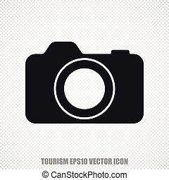 Travel vector Photo Camera icon. Modern flat design.