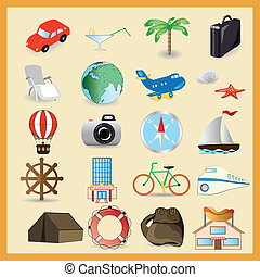 Travel vector set