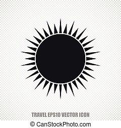 Travel vector Sun icon. Modern flat design.