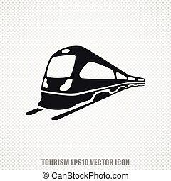 Travel vector Train icon. Modern flat design.