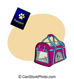 Travel with cats, dogs - transportation bag, carrier and pet...