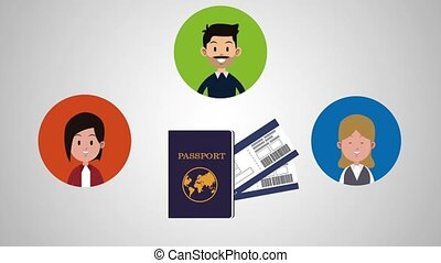 Travel with family HD animation