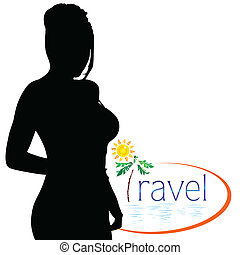 travel with girl silhouette